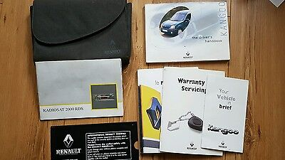 Renault Kangoo Owners Manual Handbook Pack Document Wallet (from 2002 van)