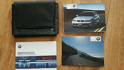 BMW 3 series Coupe Owners Manual Handbook Document Holder Leather Audio Booklet