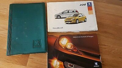 Genuine Peugeot 206 Owners Manual Handbook Document Pack Wallet