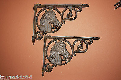 "(8)pcs, MEDIUM SHELF BRACKETS, VINTAGE LOOK, 8 3/4"" HORSE, COUNTRY, RANCH, B-4"
