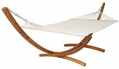 XXL WOODEN DOUBLE HAMMOCK WITH SOLID FRAME STAND | 415x150x124cm | bed size: |