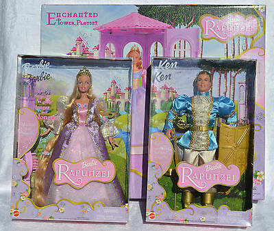 Barbie Ken Rapunzel and Prince and Enchanted Tower playset Mattel 2001 NRFB