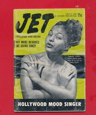 JET MAGAZINE 7/1/1954 More Negroes are going crazy Mauri Lynn new mood singer