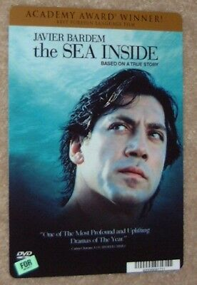 THE SEA INSIDE movie backer card JAVIER BARDEM this is NOT a dvd