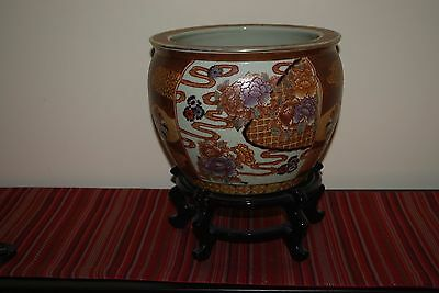 Oriental Fish Bowl with Stand