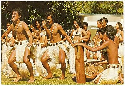 Cook Islands Tereora Drum Dance c.1980s Postcard