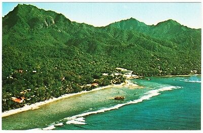 Cook Islands Rarotonga Avarua and Shipwreck of Brigantine Yankee 1960s Postcard