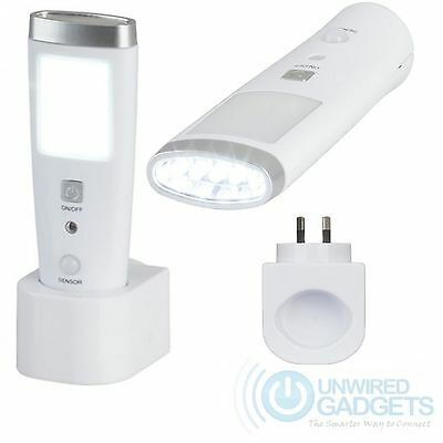NEW Emergency LED Torch with Motion Detection Australian Plug Night Light Home
