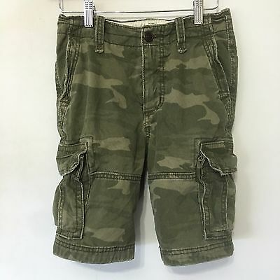 Abercrombie & Fitch Kids Camouflage Cargo Shorts Youth SZ 12 Boys Paratrooper