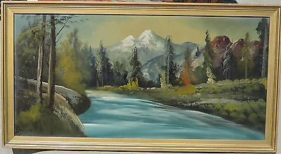 Listed Alvah Browning 1864 -1947 Colorado Rocky Mountains original oil painting