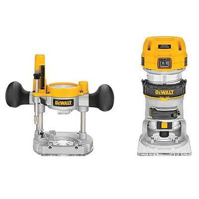 DEWALT Premium Compact Router Fixed/Plunge Combo Kit DWP611PK New