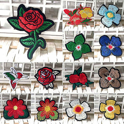 UP New Flower Embroidery Applique Cloth DIY Sewing & Iron on Patch Badge Hot