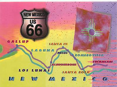 Postcard of New Mexico Route 66 Highway Map