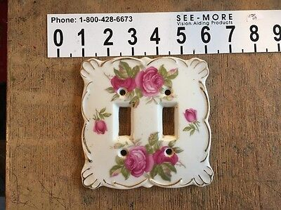Antique French Italian Provincial Lefton Ceramic Floral Switch Plate Cover