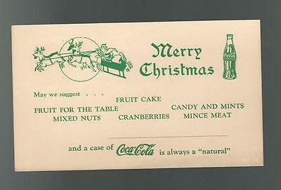 COCA COLA ADVERTISING FOR CHRISTMAS Vintage Postcard CASE OF COKE BOTTLES CARD