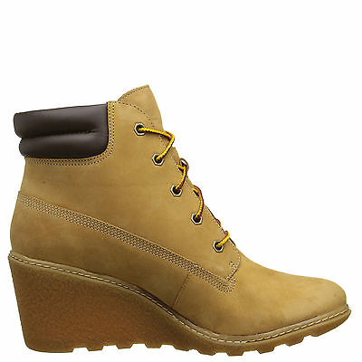 "Timberland 8251A Amston 6"" Women's Wheat Wedge Heel Boots"