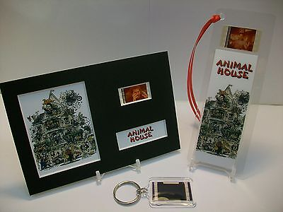 ANIMAL HOUSE 3 Piece Movie Film Cell Memorabilia compliments dvd poster vhs