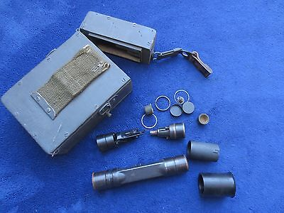 Original Vintage German  Military G43 Rifle Zf4 Scope Parts And Case Made By Ddx