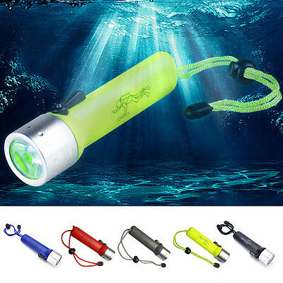 3500LM LED Underwater 50M Scuba Diving Flashlight Torch 18650 CC