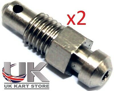 2 x TonyKart / OTK Genuine Bleed Nipples For Brake Caliper UK KART STORE