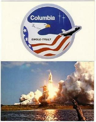 Space Shuttle Columbia STS-2 Mission Lot of 2 Postcards