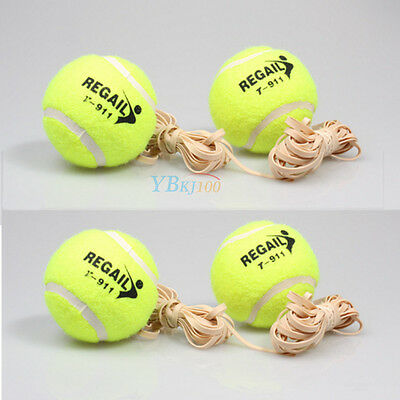 1pc Comfortable Training Tennis Ball with High Elasticity Rubber String Sports