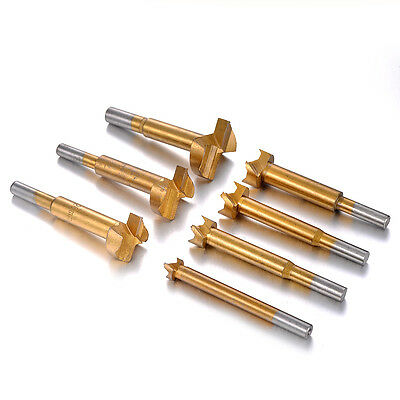 12/16/20/22/26/30/35mm Titanium-coated Forstner Bit Set Wood Drilling Hole Tool