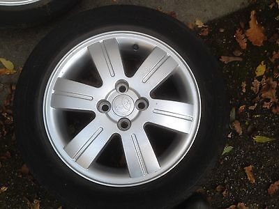 4 alloy wheels and tyres toyota centres 4 inch 195/55 R15