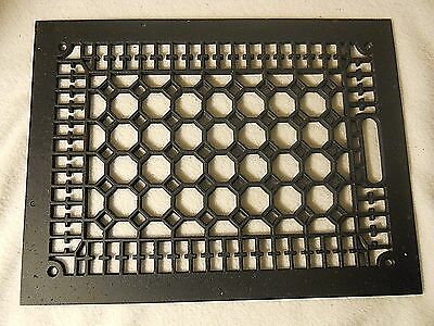 Antique Cast Iron Grate-Black Vent Cover-12 by 16-Decorative Grate