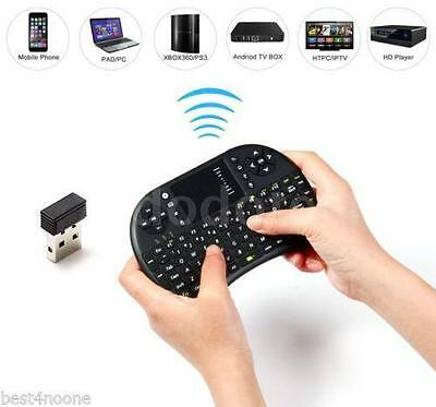 Mini Tastiera WIRELESS USB mouse Touchpad PC Android SMART TV 2,4GHz Tablet New