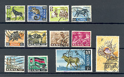 Kenya 1960s stamp selection, good to fine used