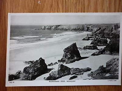 Three Real Photograph postcards Bude, Newquay and Tintagel