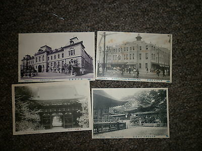 Eight (8) x c1905/10s Japan Postcards Named In Japanese & English Unposted
