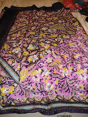Ladies / Girls Crepe Silk Printed Saree With Zari Work And Sequences