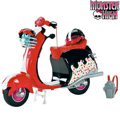 Monster High Scooter Ghoulia Yelps Vespa Zombie Con Casco e Zainetto
