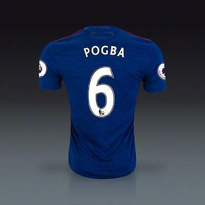 Manchester United 6 pogba Away Soccer Jersey Sz:XL