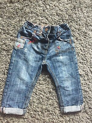 Baby girls lovely denim jeans from Next size 9-12months