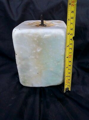 Authentic Ancient Artifact CARVED MARBLE CARRARA ITALY A RARE no ROMAN ITALIAN