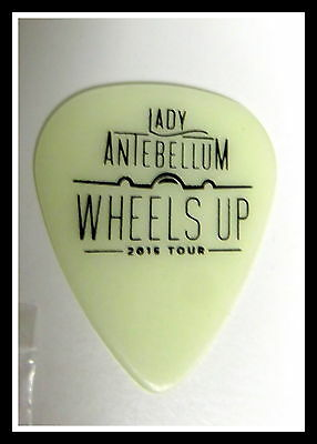 "LADY ANTEBELLUM Guitar Pick 2015--Cream ""WHEELS UP""  Tour"