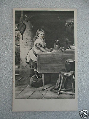 +++ Vintage Postcard Mothers Help +++ Young Girl +++