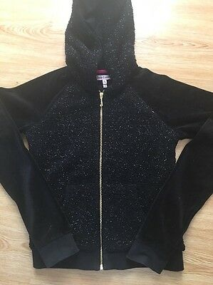 Juicy Couture Black Zipped Jacket -age 12/14 - Ex Cond