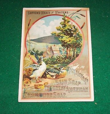 TRADE CARD - Ricksecker's Skin Soap - The Great American Complexion Soap