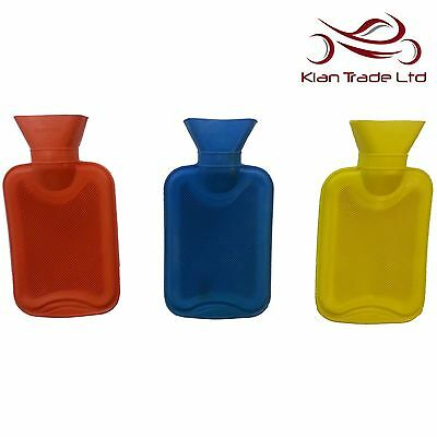 1L x Hot Water Bottle Natural Rubber Heat Therapy Warm Relaxing Pain Relief Gift
