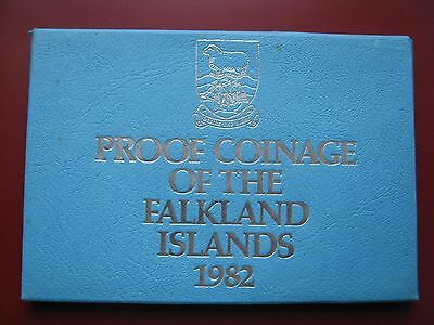 Falkland Islands 1982 7 coin set coinage 1/2-50 Pence Proof by Royal Mint