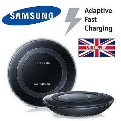 New Samsung Galaxy S6/S7 Edge, Edge+, Note 5 Fast Wireless Charger Pad in Black