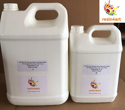 10.0kg Ultra-Clear Low Viscosity Epoxy Resin for Artists [Perfect for Resin Art]