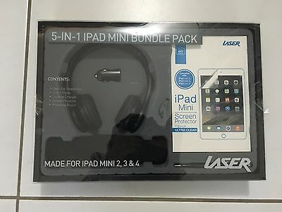 iPad Mini 2 3 4 Screen Protector Pouch Car Charger Stylus Pen Headphones Pack