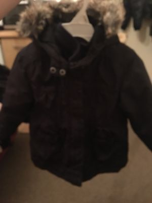 Girls Winter Jacket 2 Years With Bow Detail