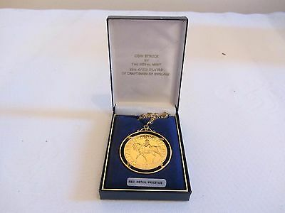 Crown Of Crowns 1977 Royal Mint 22Ct Gold Plated Coin Pendant Jubilee