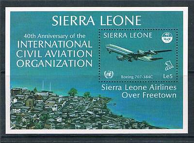 Sierra Leone 1985 Anniversary of ICAO MS SG 866 MNH